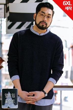 [5XL제작상품]MANN_SY:하디슨 셔츠니트